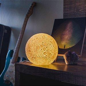 Luminária Lua Amarela de Mesa