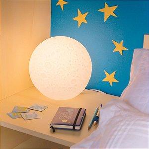 Luminária Lua Branca de Mesa