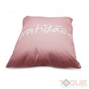 Capa de almofada rosa gratidão