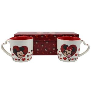 Kit c/2 Canecas Minnie e Mickey