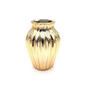 Vaso de porcelana dourado