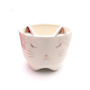 Cachepot em cerâmica modelo gato