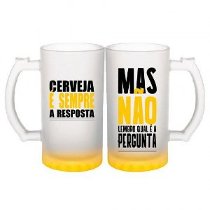 Kit c/2 Canecas de Chopp Resposta