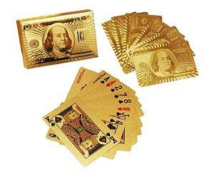 Jogo de Baralho Dourado