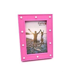 Porta retrato rosa com led 10x15