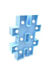 Luminária Caractere Especial # Azul