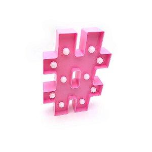 Luminária caractere especial # rosa