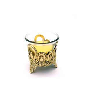 Castiçal de vidro vela Amarela