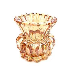 Vaso decorativo em vidro flor