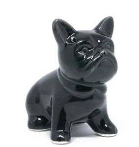Enfeite cachorro Bull Dog preto