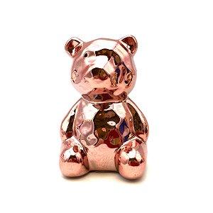Urso em cerâmica na cor bronze