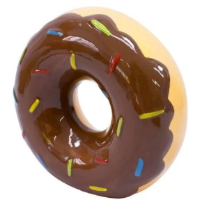 Cofre Rosquinha Chocolate Donuts 13.5cm