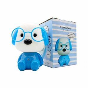 Luminária cachorro azul