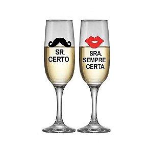 Jogo de taças Champagne Vidro
