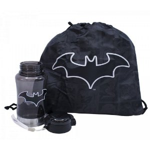 Garrafa plástico com mochila Batman