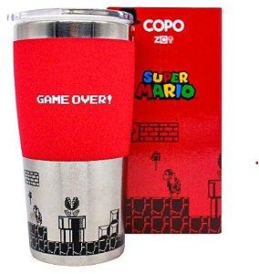 """Copo de viagem """"Mário Game Over"""""""