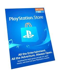 Cartão PSN R$ 60 Reais Playstation Network Brasil