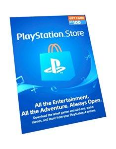 Cartão PSN R$ 100 Reais Playstation Network Brasil