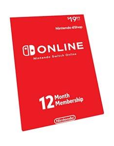 Nintendo Switch Online 12 Meses Brasil