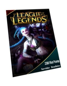 Cartão League of Legends 2235 Riot Points
