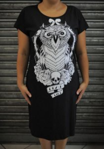 Vestido Mini Vest Dead Time - Coruja
