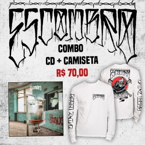 "Combo ESCOMBRO - Camiseta manga longa ""Entre Lobos"" + CD ""Eutanásia Social"""