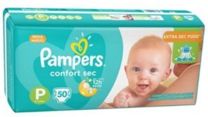 FRALDA PAMPERS TOTAL CONFORT P C/50 Fraldas