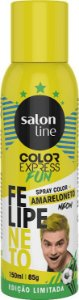 Color Express Fun Spray Color Felipe Neto 150 ml Amarelo