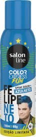 Color Express Fun Spray Color Felipe Neto 150 ml Azul