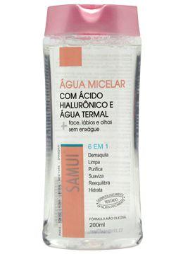 Água Micelar Com Ácido Hialurônico  Água Termal 200 ml Samui