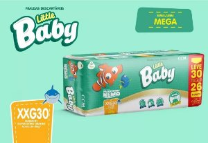 FRALDA LITTLE BABY NEMO MEGA XXG L30P26