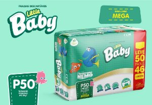 FRALDA LITTLE BABY NEMO MEGA P L50P46