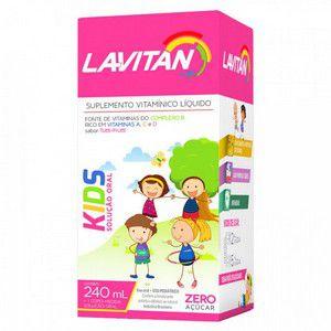 LAVITAN KIDS SOL ORAL 240ML SBR TUT FRUTTI - Suplemento Vitamínico (Vencimento 31/03/2020)
