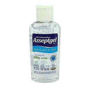 ALCOOL GEL 70% ASSEPTGEL 52 GRS - Com Extrato De Aloe Vera