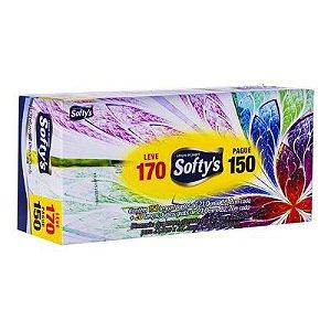 LENÇO PAPEL SOFTY LEVE 170 PAGUE 150 (caixas com cores variadas)