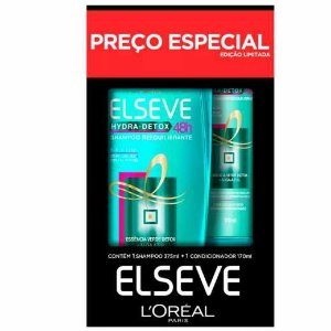 KIT ELSEVE SHAMPOO 375 ML + CONDICIONADOR 170 ML HYDRA DETOX