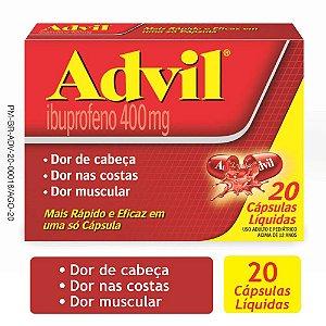 ADVIL 400MG C/ 60 CAPS GEL