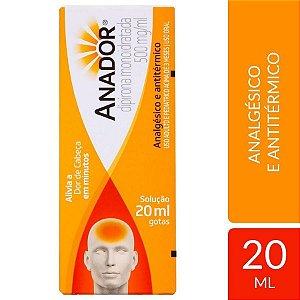 ANADOR 500MG SOL ORAL FR GTS 20ML