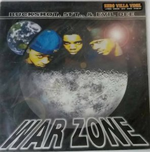 Disco  Single de Vinil - WAR ZONE - Buckshot, 5FT & EVIL DEE