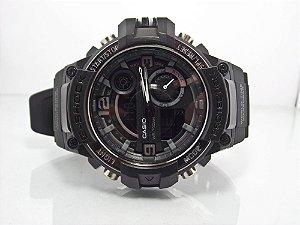 d763f879714 Relógio G-shock verde maquina moderna digital e analógico detalhes ...