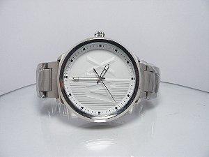 d67a8bce338 Relógio AX EMPÓRIO ARMANI PRATA FUNDO BRANCO analógico FRETE GRÁTIS REGIÃO  SUDESTE