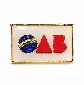 Bótom Broche Pim Chapeado Ouro OAB Direito Para Advogados Juízes Folheado A Ouro