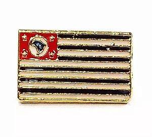 Pim Bótom Broche Bandeira Do Estado De São Paulo Folheado A Ouro
