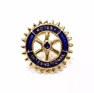 Pim Bótom Broche Rotary International Folheado A Ouro Lindo