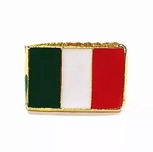 Bótom Pim Broche Bandeira Itália 13x9mm Folheado A Ouro