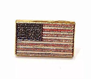 Bótom Pim Broche Bandeira Estados Unidos EUA Folheado A Ouro
