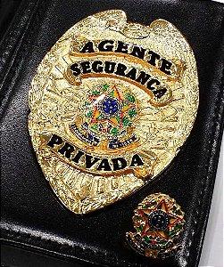 Distintivo Porta Funcional Agente Segurança Privada Brinde Bótom