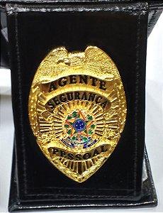Distintivo Porta Funcional Agente Segurança Pessoal Brinde Bótom