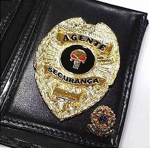 Distintivo Porta Funcional Agente De Segurança Brinde Bótom