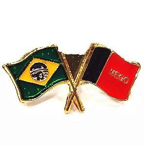 Pim Bótom Broche Bandeira Do Estado Da Paraíba Folheado A Ouro